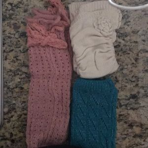 Girls leg warmers/ 3 pack